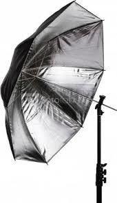 Skėtis Umbrela 109cm Black/Silver