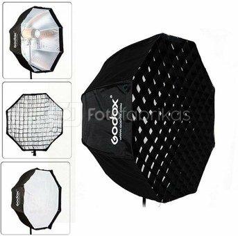 Godox Softbox met paraplu aansluiting 120cm+ grid