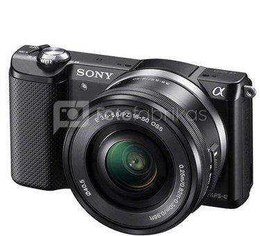 Sony Alpha A5000 + 16-50mm, juodas