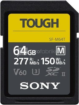 Sony memory card SDXC 64GB M Tough UHS-II C10 U3 V60