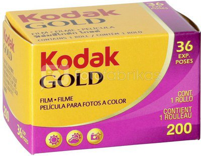 Fotojuosta Kodak Gold 200/36 kadrai