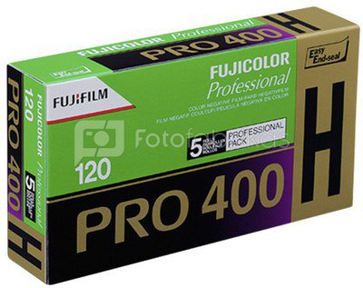 1x5 Fujifilm Pro 400 H 120 New