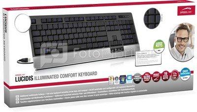 Speedlink keyboard Lucidis Illuminated Nordic (SL-6432BK-NC)