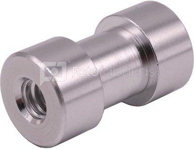 """Caruba spigot adapter 1/4"""" female   3/8"""" female (28mm) aluminium"""