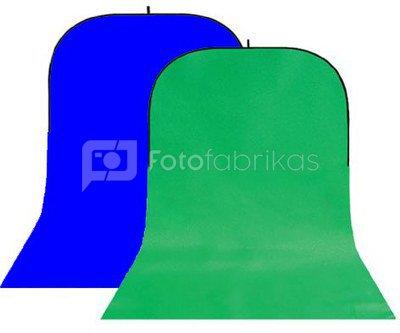 StudioKing Background Board BBT-10-07 Green/Blue 150x400 cm