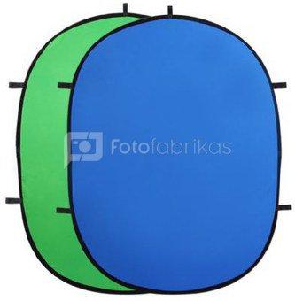 StudioKing Background Board Green/Blue 240x240 cm