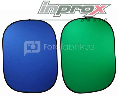 Sulankstomas fonas Inprox Basic 1,5 x 2 m Green/Blue