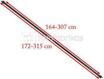 Teleskopinis skersinis fonams 1,72 - 3,15 cm