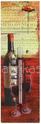 Termometras dekoruotas vyno aksesuarais 25x8 cm 93340