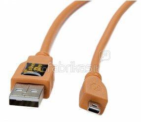 Tether Tools TetherPro USB 2.0 A to Mini-B 8 pin 15' ORG