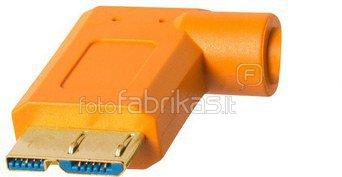 Tether Tools TPro USB 3.0 Micro-B Right Angle 4.6m/15' ORG