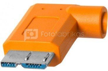 TetherPro 4.6m kabelis USB 3.0 to Micro-B Right Angle CUC33R15