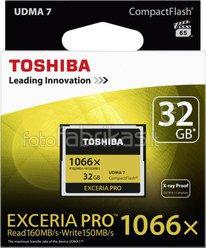 Toshiba CF Card 1066x 32GB Exceria Pro