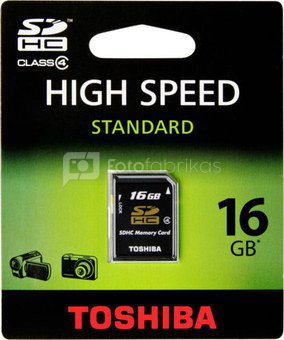Toshiba SDHC 16GB Class 4 High Speed Standard