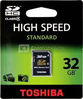 Toshiba SDHC 32GB Class 4 High Speed Standard