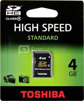 Toshiba SDHC 4GB Class 4 High Speed Standard