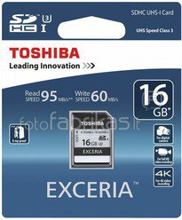 Toshiba SDHC Card Class 10 16GB Exceria Ultra High Speed UHS I