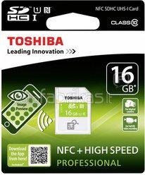 Toshiba SDHC Card Class 10 16GB High Speed Prof UHS I NFC