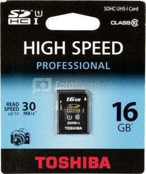 Toshiba SDHC Card Class 10 16GB High Speed Professional UHS I