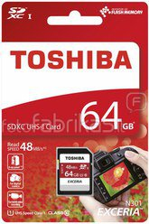 Toshiba SDXC Karte Class 10 64GB Exceria R48 UHS I