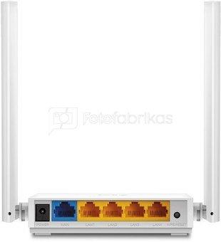 TP-Link TL-WR844N Router, 4 x 10/100 (RJ-45) ports, 2.4GHz, 802.11n, 300Mbps, 2xExternal antennas