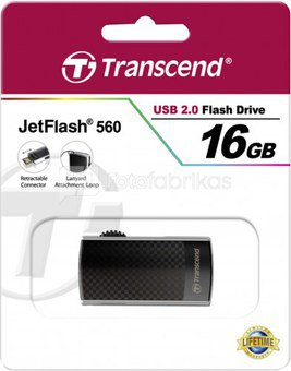 Transcend JetFlash 560 16GB flash atminties raktas