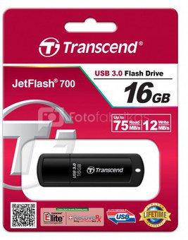 Transcend JetFlash 700 16GB USB 3.0 laikmena