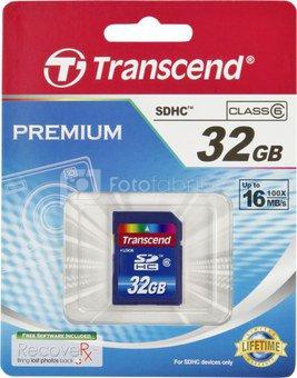 Transcend SD Card SDHC 32GB Class 6