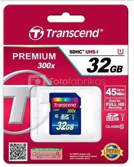 Transcend SDHC 32GB Class 10 UHS-I 400x Premium