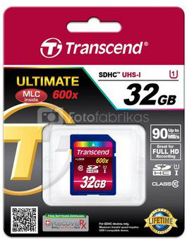 Transcend SDHC 32GB Class10 UHS-I 600x Ultimate