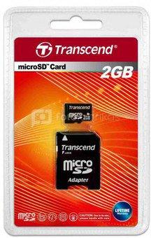 Transcend MicroSD 2GB + adapteris