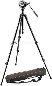 Manfrotto Lightweight Fluid Video stovas MVH500AH su galvute 755XBK