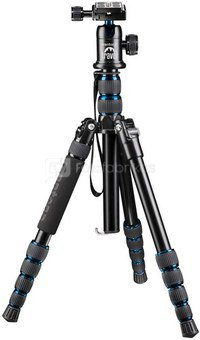 mantona DSLM Travel Tripod with Ball Head Blue