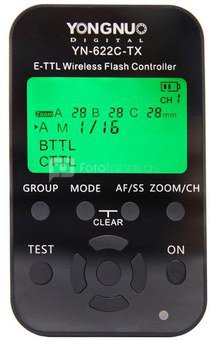 TTL radijo siųstuvas/imtuvas Yongnuo YN-622C KIT