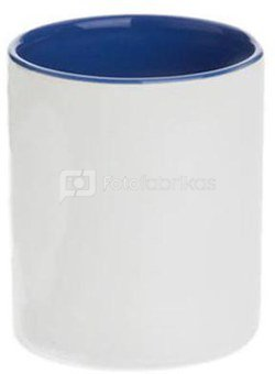 Two colors mug. Bluish color of the inside and the handle