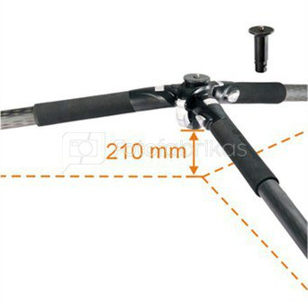 Vanguard ABEO PLUS 323CB Tripod Aluminium + Head BBH-200 / Legs adjust to 25, 50 and 80-degree angles / Smooth fluid-like ball head / Anti-spin center column / Anti-shock ring / Accessory hook and low