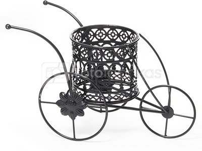Vazonėlis ant Karučio 29x15x17 cm metalinis juodas 50641