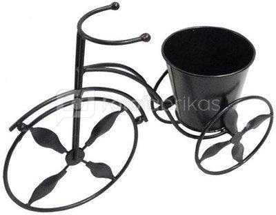 Vazonėlis ant triratuko 30x11x21 cm 50639 metalinis juodas