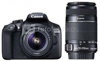 Canon EOS 1300D + 18-55mm IS II + 55-250mm IS