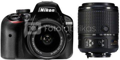 Nikon D3300 + 18-55mm VR + 55-200mm AF-P VR II