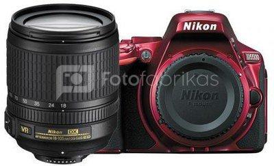 Nikon D5500 + 18-105mm VR (raudonas)