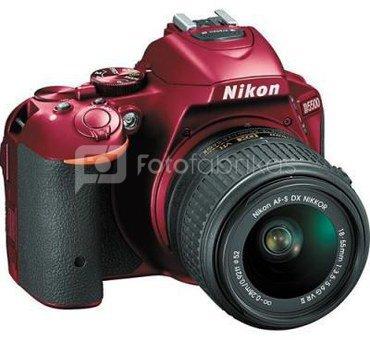 Nikon D5500 + 18-55mm VR II (raudonas)