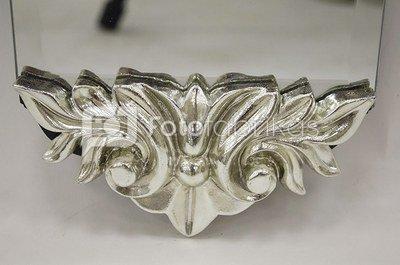 Veidrodis 122x15x4 cm 103189 siauras su papuošimais viršuje/apačioje