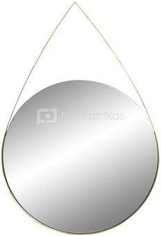Veidrodis metalinis apvalus aukso sp. 30X2X44 cm ES-153708