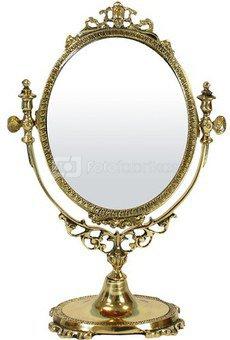 Veidrodis ovalus pastatomas 24x16,5x8 cm 85764 aukso spalvos