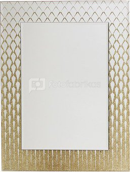 Veidrodis puoštas aukso spalvos blizgučiais H:38 W:30 D:2 cm HE681