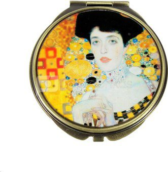 Veidrodukas Klimt. Adele Bloch Bauer motyvais D 7 cm 90721 zxz ddm