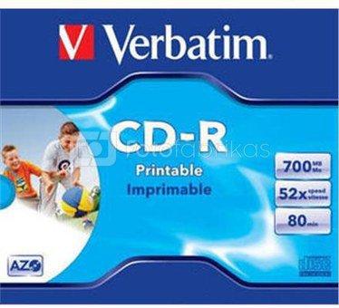 Verbatim CD-R 80/700MB 52X AZO jewel box WIDE PRINTABLE - 43325