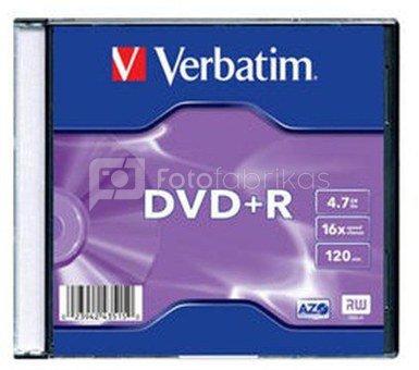 Verbatim DVD+R 4.7GB 16X slim box