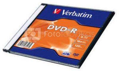 Verbatim DVD-R 4.7GB 16X matte silver/AZO slim box - 43547